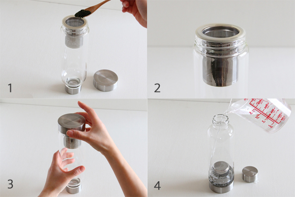 ガラスタンブラー キャリーティーボトル 茶こし付き
