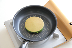 ますみえんの抹茶を使った、抹茶のパンケーキのレシピ